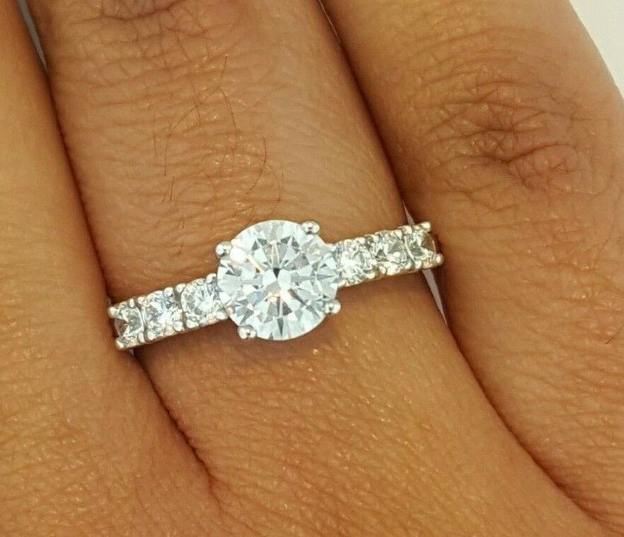 Fine Jewelry 14k Solid Yellow Gold Solitaire Engagement Wedding Promise Ring 1.25 Ct Diamond Strong Packing