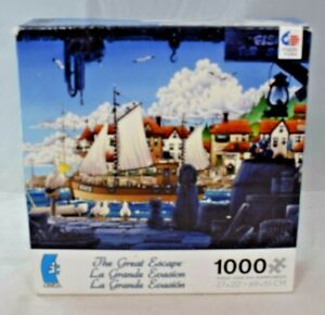 Ceaco-Puzzles-034-The-Great-Escape-034-1000pc-Jigsaw-Puzzle-27-034-x-20-034
