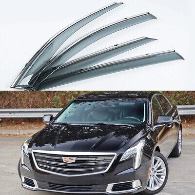 4x For Cadillac XTS 2013-2019 Window Visor Deflectors Sun Guard Rain Vent Shield