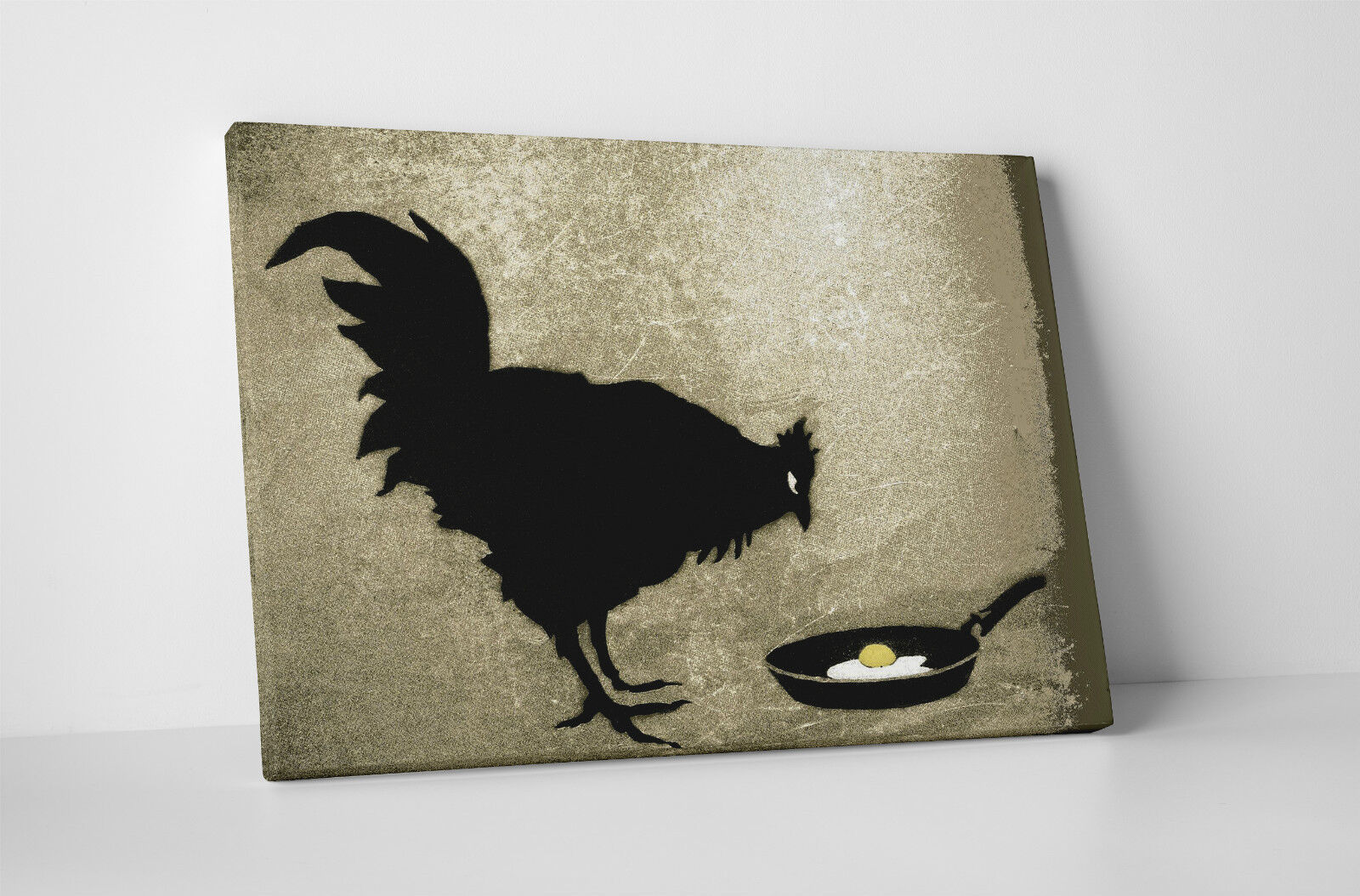 banksy chicken and the egg gallery wrapped canvas print bonus