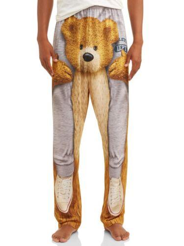 New Teddy Bear Free Ride Men/'s Jersey Sleep Lounge Pants Small 28 30 XL 40 42