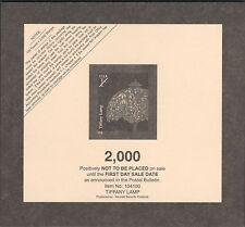 TIFFANY LAMP US 2008 Scott #3749A AMERICANA SERIES 1c Stamp PO FRESH TOP CARD