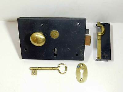 French or Double Door Bolt Antique Full Mortise Orig Copper Finish NOS 1900