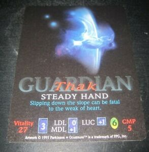 Guardians-Thak-Steady-Hand-trading-card-game-tcg-ccg-Rare-2-1995