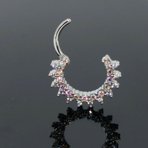 Hinged Segment Ring Septum Clicker Ear Cartilage Earring Septo Piercing Jewelry