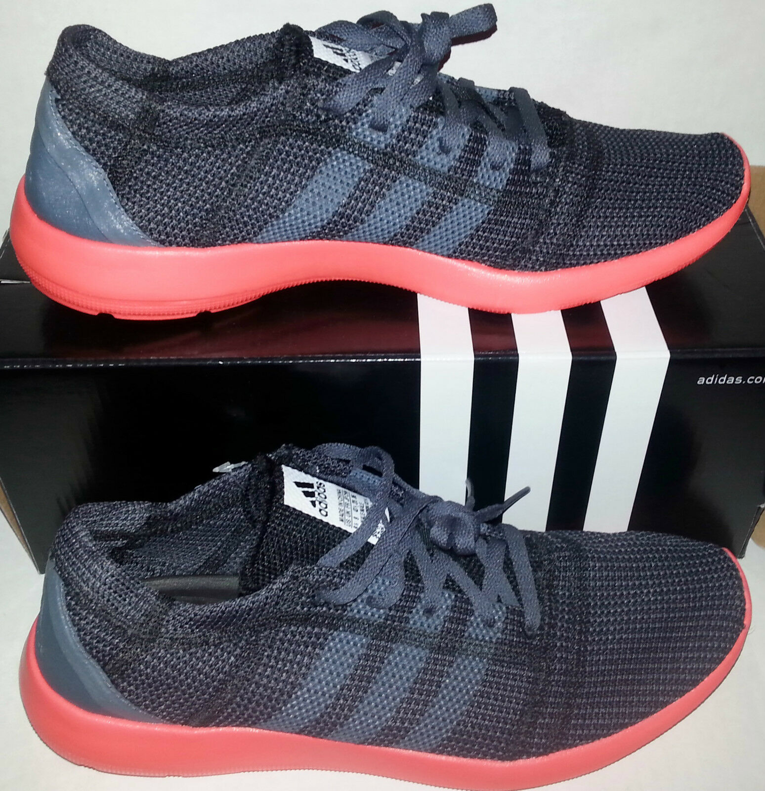 Adidas ELEMENT REFINE TRICOT ONIX/BLACK/SOLAR RED mens RUNNING COURSE SHOES The latest discount shoes for men and women