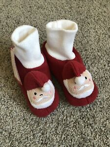 Pottery Barn Kids Santa Slippers Size M Ages 3 4 Ebay