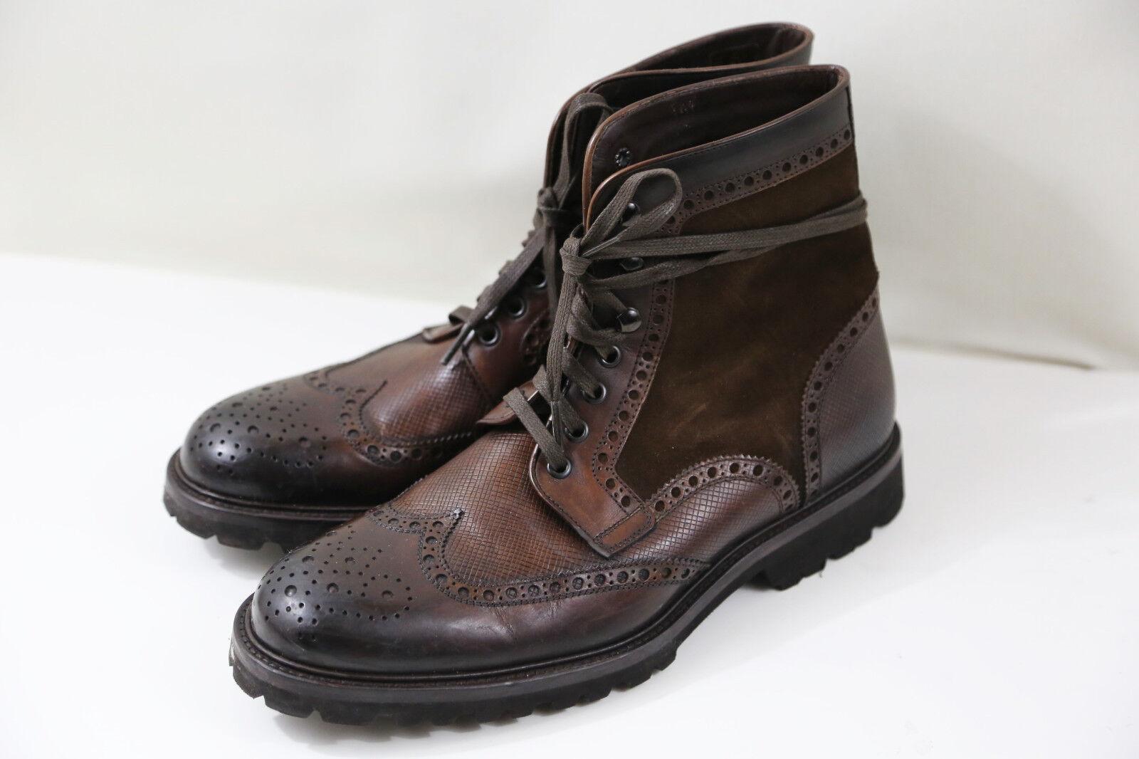 88 Magnanni Enzo Wingtip Boots Size 9 M   RETAIL  399