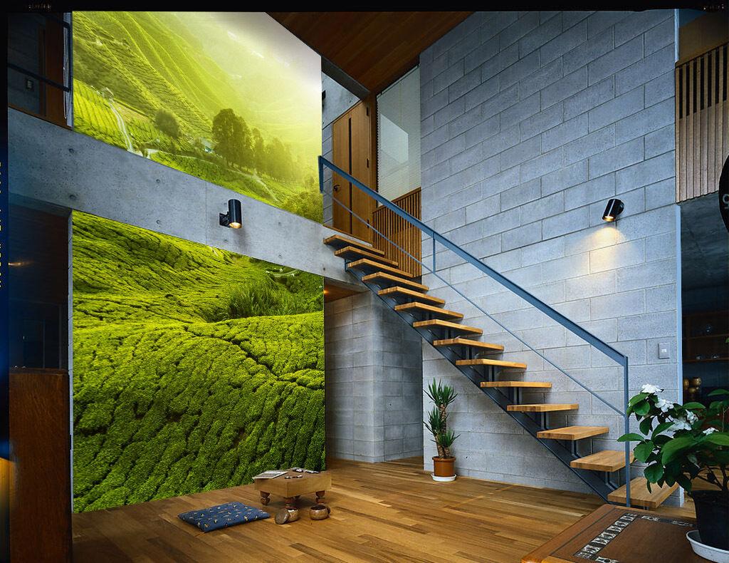 3D Greenness Hills Tree 021 Wall Paper Wall Print Decal Wall AJ WALLPAPER CA