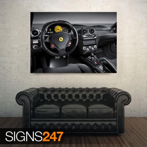 Ferrari 599 GTO intérieur Voiture AFFICHE-POSTER print ART A0 A1 A2 A3 AB265
