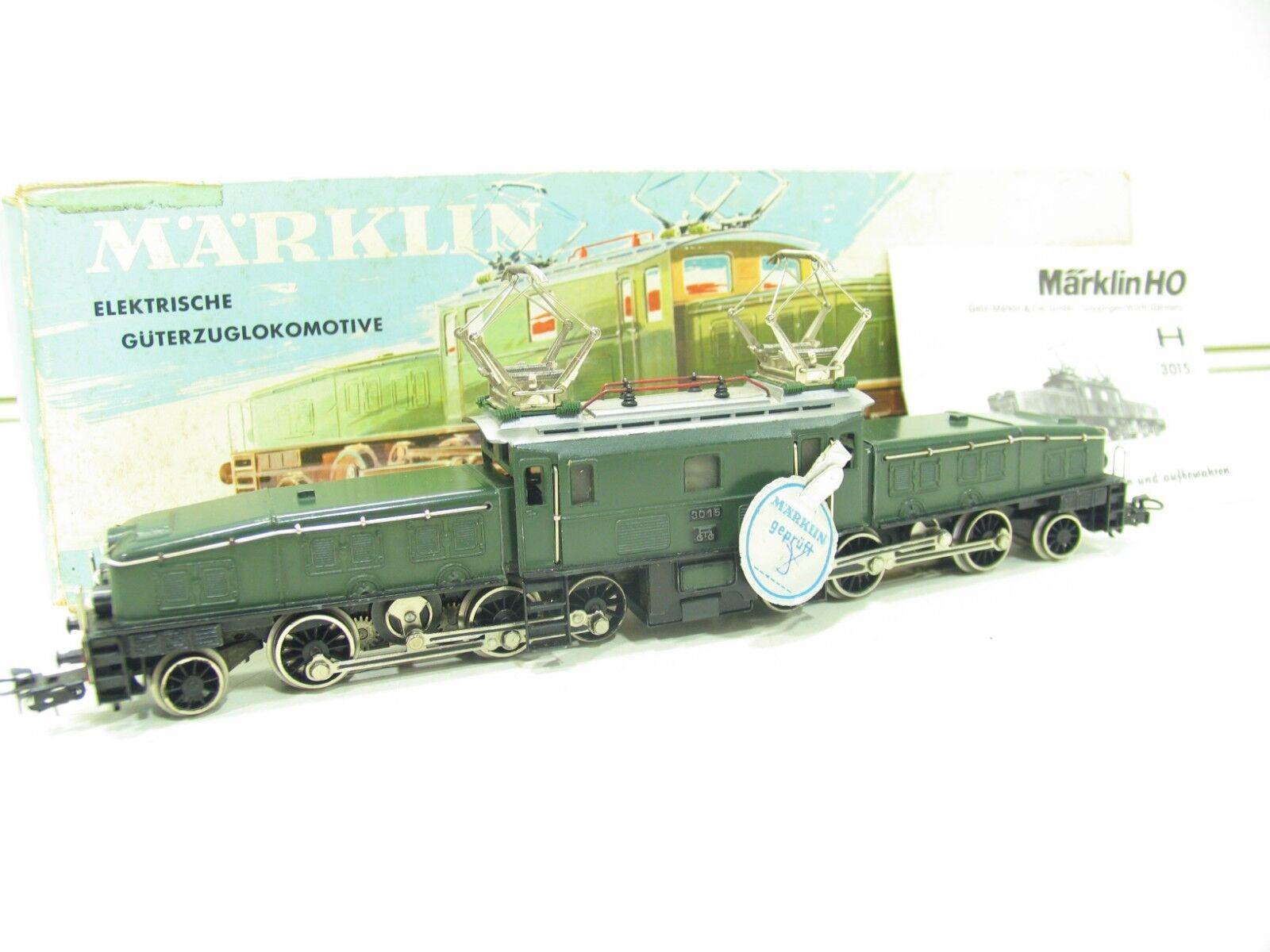 Märklin 3015 Crocodile Green SBB VGC in Original Box sl32
