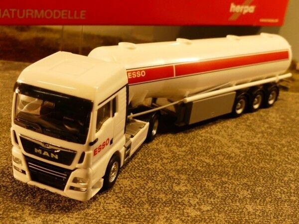1 87 Herpa MAN TGX XLX Benzintank-Sattelzug Esso 309509