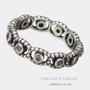 fa018edf2 Image is loading Authentic-Pandora-Sterling-Silver-Her-Majesty-Purple-Ring-