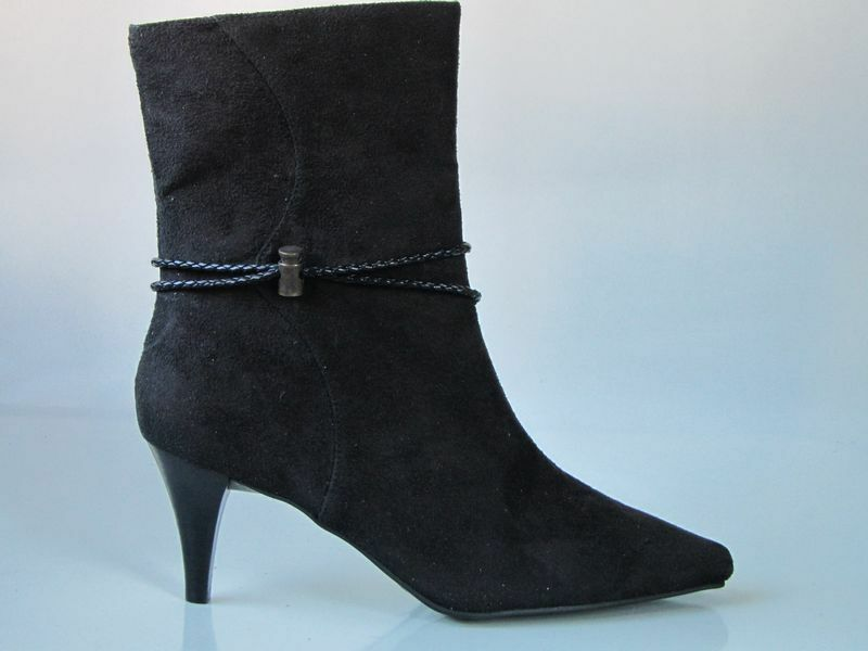 New BOUQUETS schwarz ankle Stiefel schuhe 9 W wide