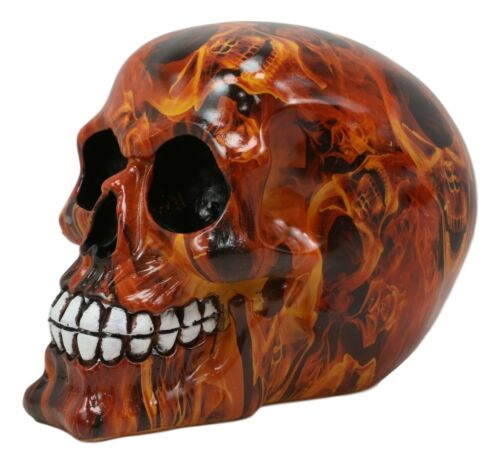 Day Of The Dead Dantes Inferno Diablo Hell Fire Flame Tattoo Sugar Skull Statue