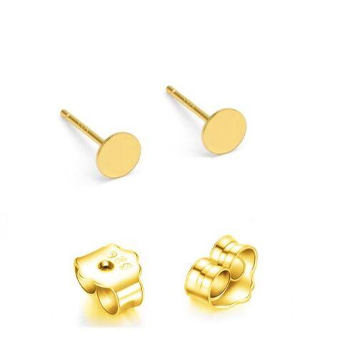 DIY 14K Gold over S925 Sterling Silver Earrings Posts Flat Pat Stud Pin w Backs