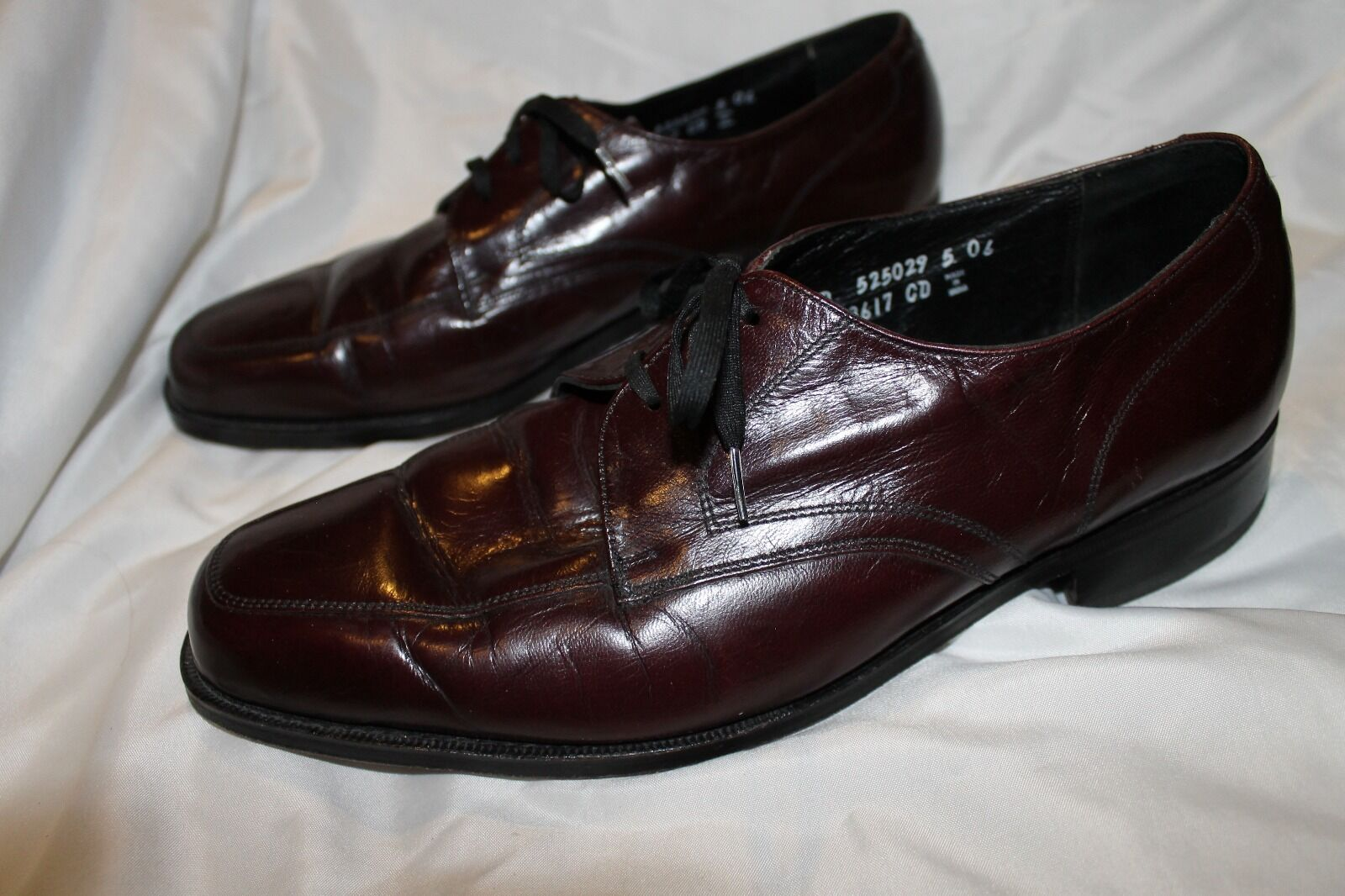 Florsheim Men's Leather Shoes Size 9 1/2 D Style 33617 Wine Brown