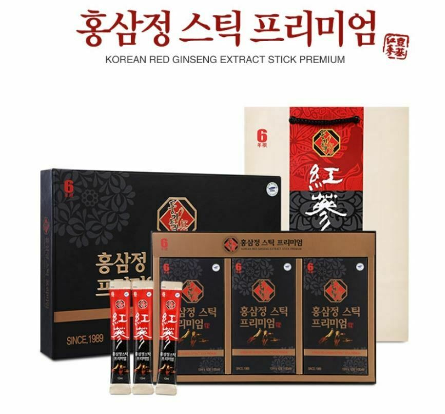 Korean 6 Years Old Root Red Ginseng Extract Gold Stick 30 Stick Panax Insam  for sale online | eBay
