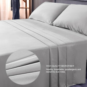 LivingBasics® 100% COTTON 4pcs Sheet set 300T,  FULL Size   (60s*40s,173*120)