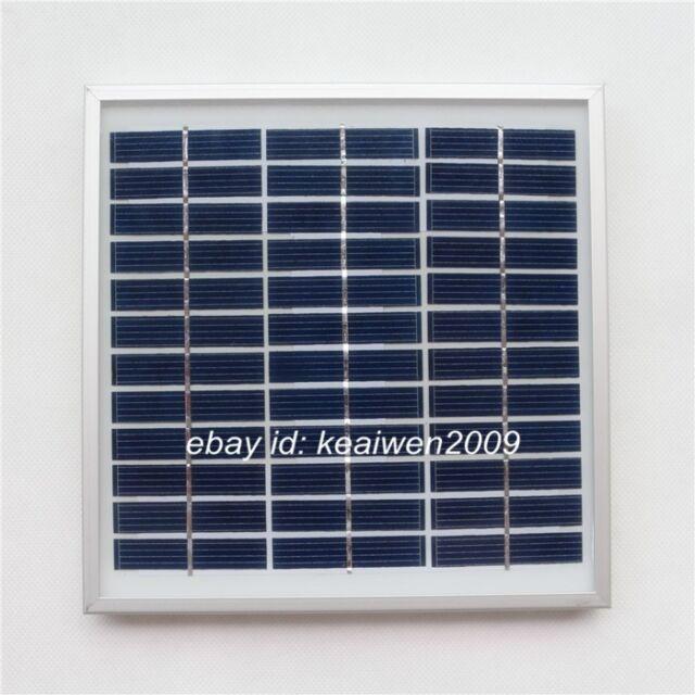 18V 167MA 3W solar panel power 12v battery solar glass plate module charger cell