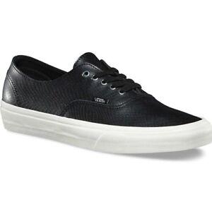 b86849a5fb VANS Authentic Decon (Snake) Black Blanc de Blanc Skate Shoes MEN S ...