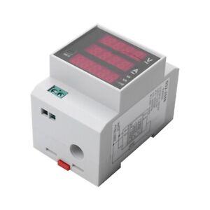 AC200-450V-100A-Digitaler-Energie-ZaeHler-DIN-Schienen-LED-Leistung-Faktor-B9A1