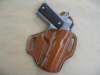 Ithaca 1911 5 Owb Leather 2 Slot Molded Pancake Belt Holster Ccw Tan Rh