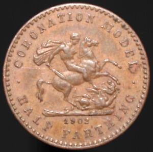 1902-Edward-VII-Coronation-Model-Half-Farthing-Token-Tokens-KM-Coins