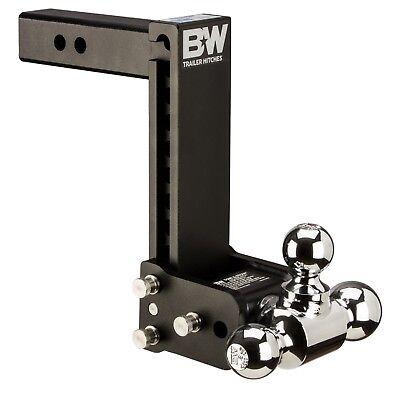 2 Ball Hitch >> Bw Black Tow Stow Tri Ball Hitch Receiver 1 7 8 2 5 16 2 Ts10050b Adjustable Ebay