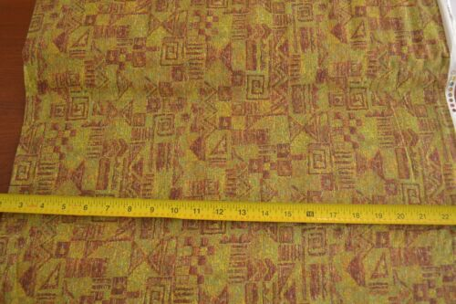 Yellow Green Brown Quilting Cotton RJR//Beyer//Pacific Rim//8875-4 B718 By 1//2 Yd