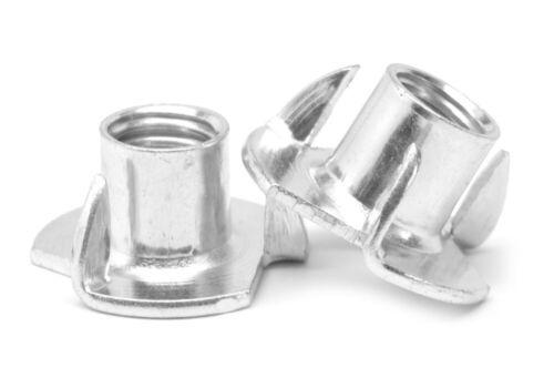 """5//16/""""-18 x 5//16/"""" Coarse Thread Tee Nut 3 Prong Zinc Plated"""