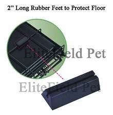 """EliteField 48"""" 2-Door Folding Dog Crate Cage Kennel with RUBBER FEET"""