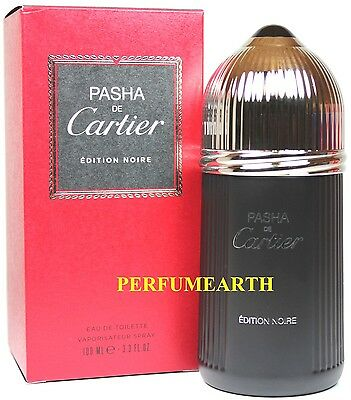 ddcbb5c890d Pasha De Cartier Noire By Cartier 3.3 3.4oz. Edt Spray For Men New In Box  3432240033741