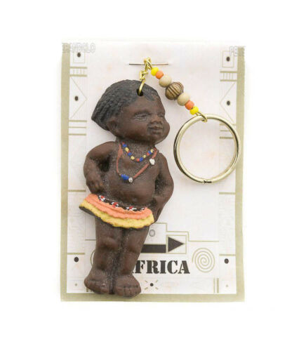 Porte clés bébé africain en résine Afrique du sud Peterandclo  B1 7373