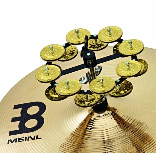 Hammered Brass HTHH2B-BK Meinl Percussion Hi Hat Tambourine with Double Row