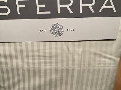 Sferra Standard Ivory Stripe Pillowcases 400 TC Cotton Sateen Jacquard New