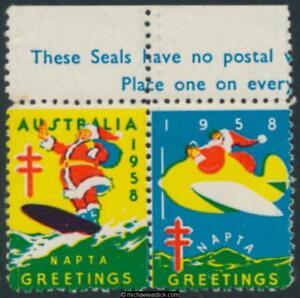 1958 pair napta australia greetings anti tb campaign ebay image is loading 1958 pair napta australia greetings anti tb campaign m4hsunfo