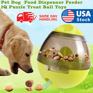 Pet-Dog-Interactive-Tumbler-Food-Dispenser-Feeder-IQ-Puzzle-Treat-Ball-Toys-US