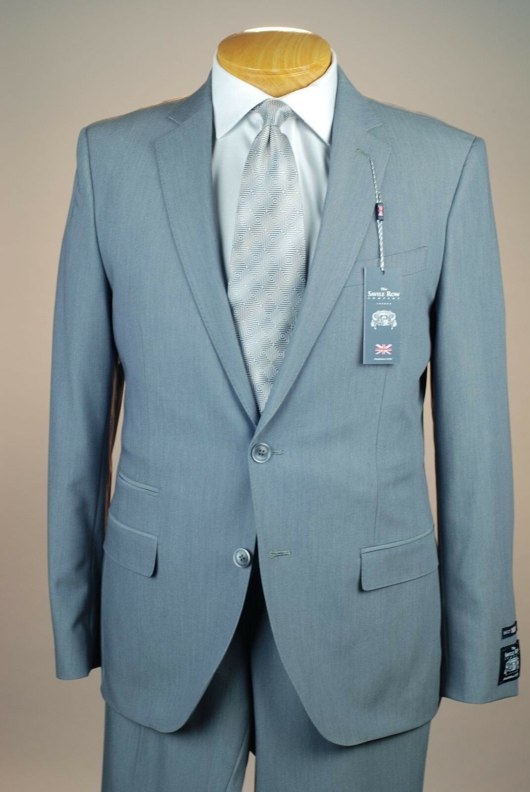 42L SAVILE ROW Solid grigio SUIT SEPARATE  42 Long Long Long Uomo Suits - SS43 530d4d