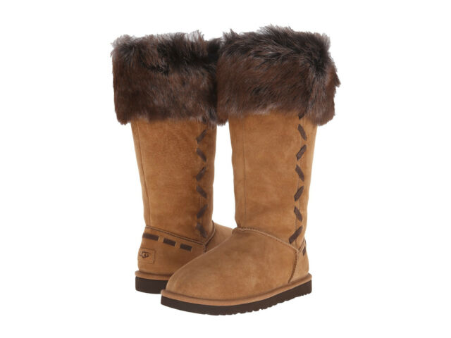 b59172411ec NEW WOMEN UGG AUSTRALIA ROSANA CHESTNUT 1008044 WATER-RESISTANT BOOT  ORIGINAL