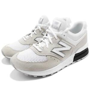brand new 54f58 16ee6 Details about New Balance MS574STW D Grey White Men Running Shoes Sneakers  MS574STWD