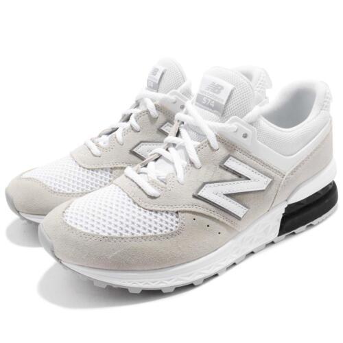 Balance Chaussures Course Hommes Ms574stwd Gris De New D Baskets Ms574stw Blanc Ywa8d