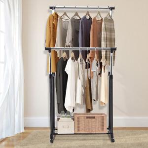Kleiderstander Waschestander Garderobenstander Kleiderstange Kleiderwagen Rollen Ebay