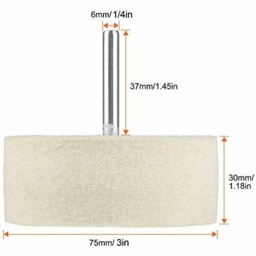 75 Mm Felt Polishing Buffing Wheel 3 Inch Wool For Use With Cerium Oxide Powder