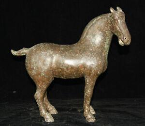 """12 """"Statue de sculpture sur cheval en zodiaque, année bronze chinois"""