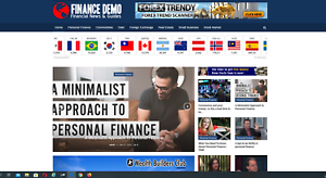 Finance-news-website-stocks-market-business-100-automated-Premium-designed