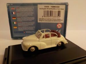 Morris Minor, White , Model Cars, Oxford Diecast