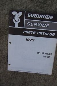 1975 Evinrude 115 Hp 115593 Outboard Motor Parts Catalog See More In Store L Ebay