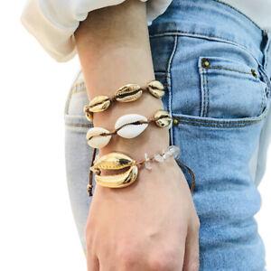Bohemian-Natural-Cowrie-Beads-Shell-Bracelet-Handmade-Charm-Beach-JeweTPO