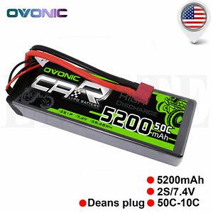 Ovonic-50C-7-4V-5200mAh-2S-Lipo-Bateria-Deans-Plug-para-Traxxas-Slash-Losi-RC-Coche